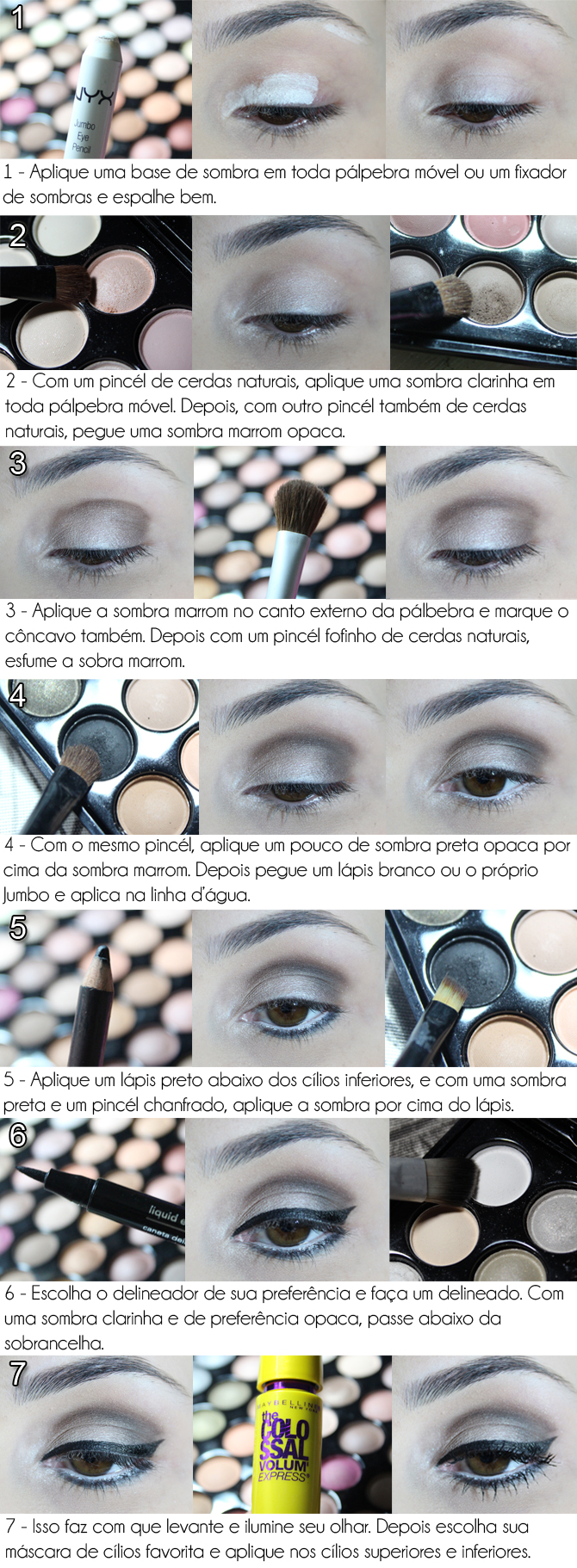 make-up tutorial neutro em foto