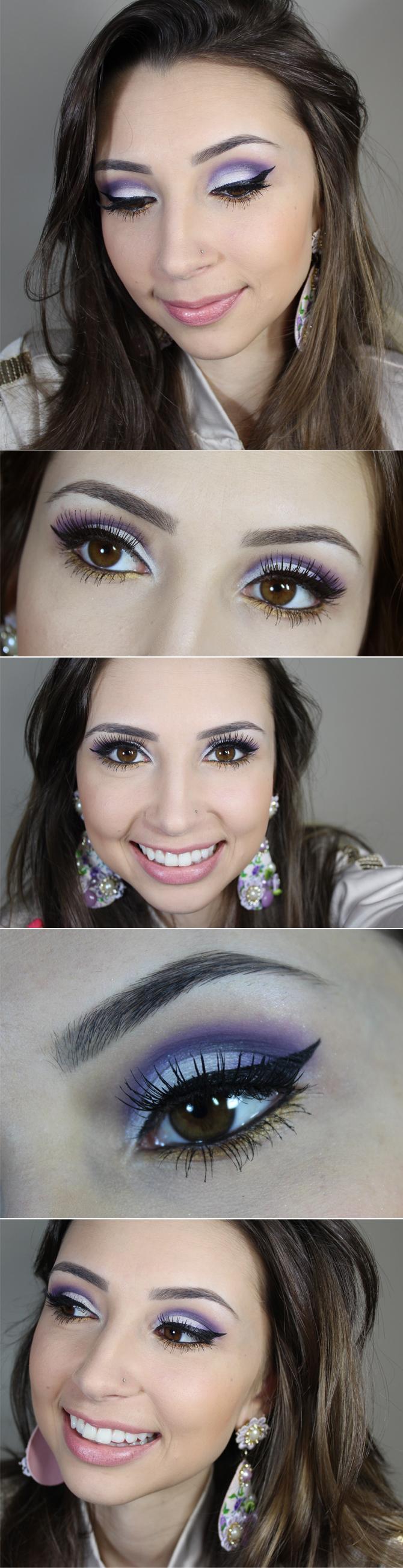 maquiagem moxa com dourada