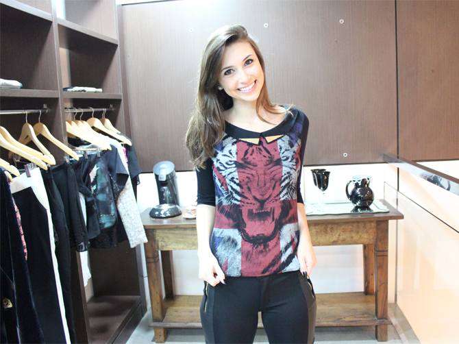 7 look com tshirt animal face