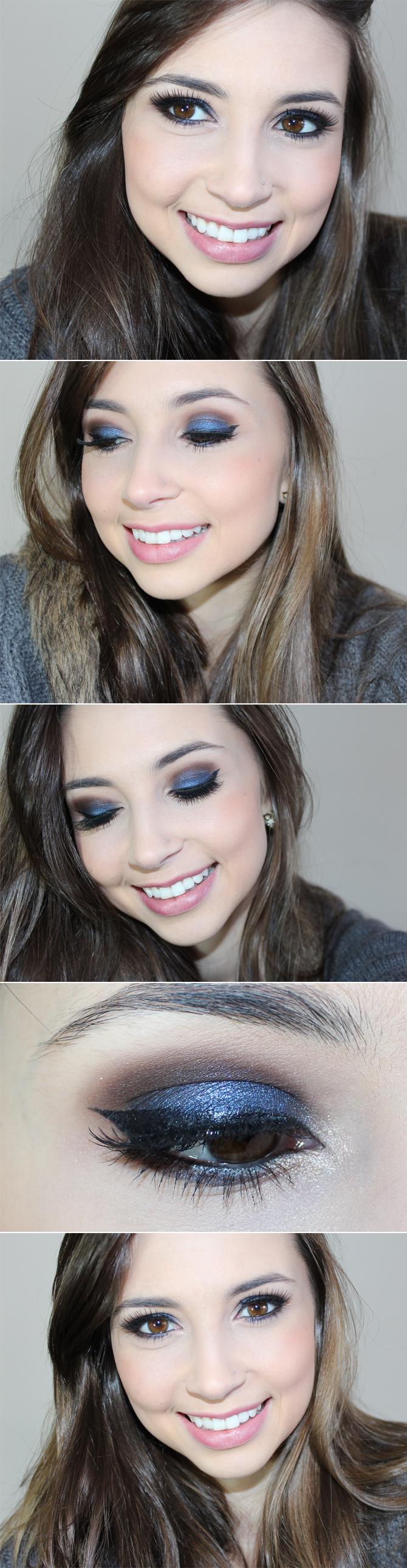 fotos maquiagem azul com marrom copy