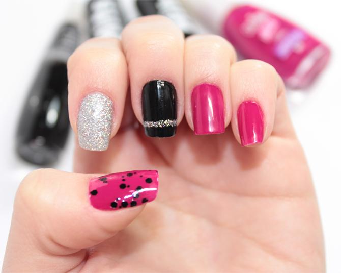 5- esmalte da semana rosa preto e prata