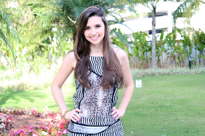 1- look conjuntinho animal print