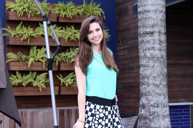 2- look saia quadriculado verão