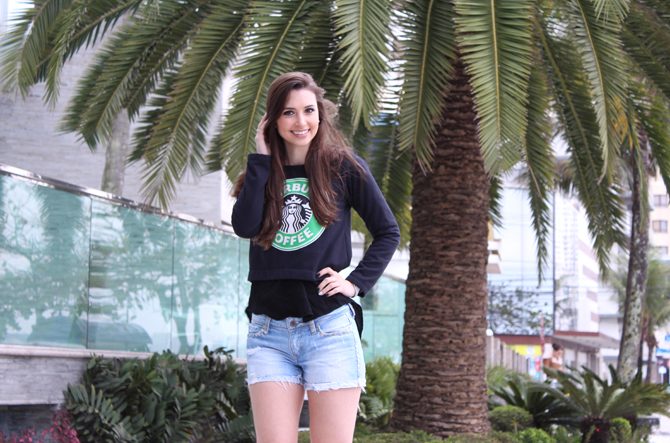 2- moletom starbucks com shorts