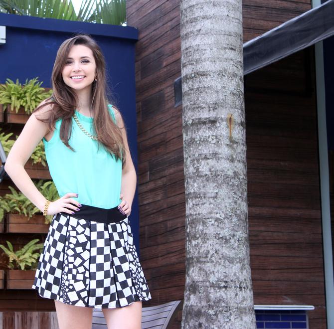 4- look saia quadriculado verão