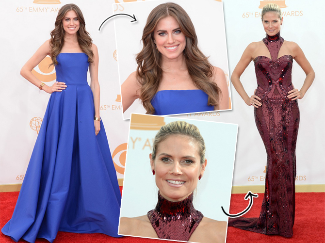 Allison Williams e Heidi Klum Emmys 2013