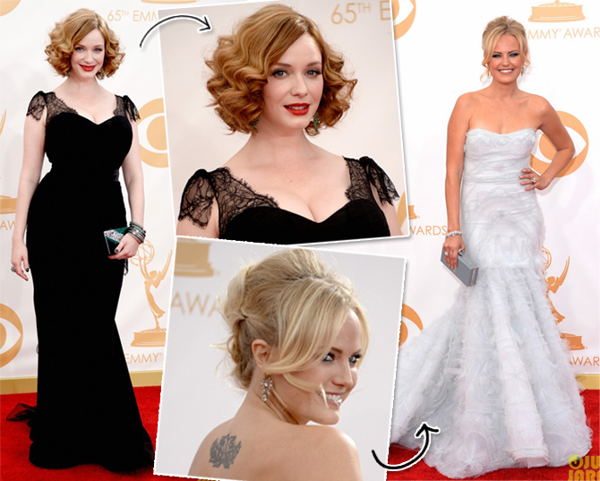 Christina Hendricks e Malin Akerman Emmys 2013