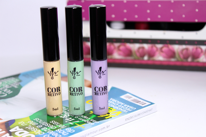 1- corretivos coloridos Yes Cosmetics