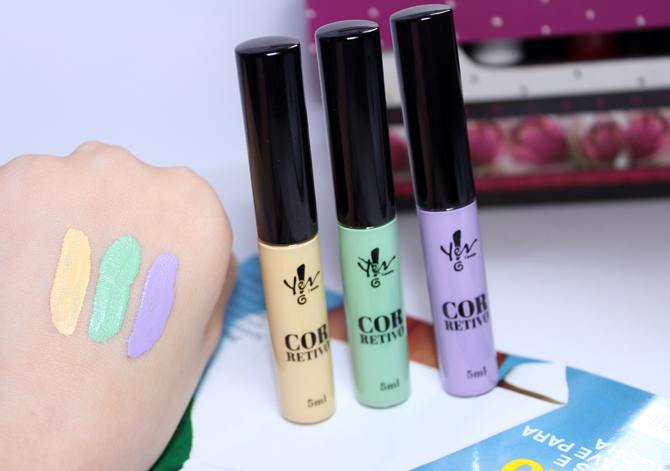 3- corretivos coloridos Yes Cosmetics