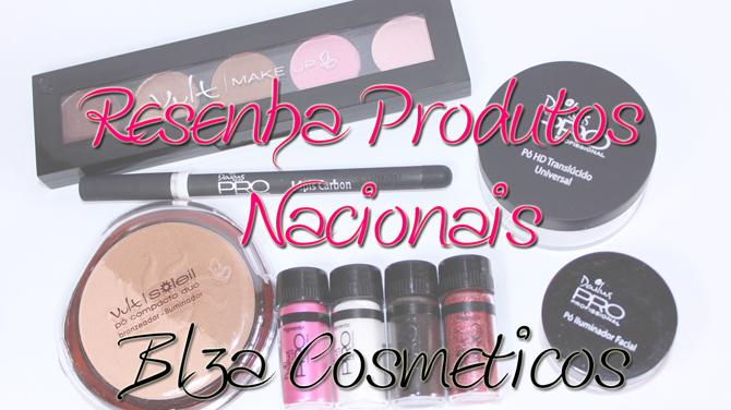 1- resenha produtos nacionais Blza Cosmeticos