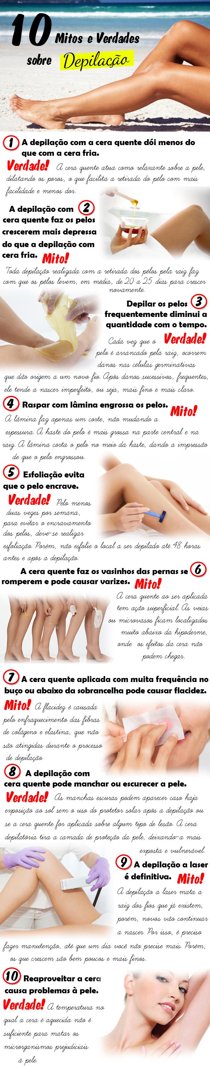 10 mitos e verdades sobre a depilação1