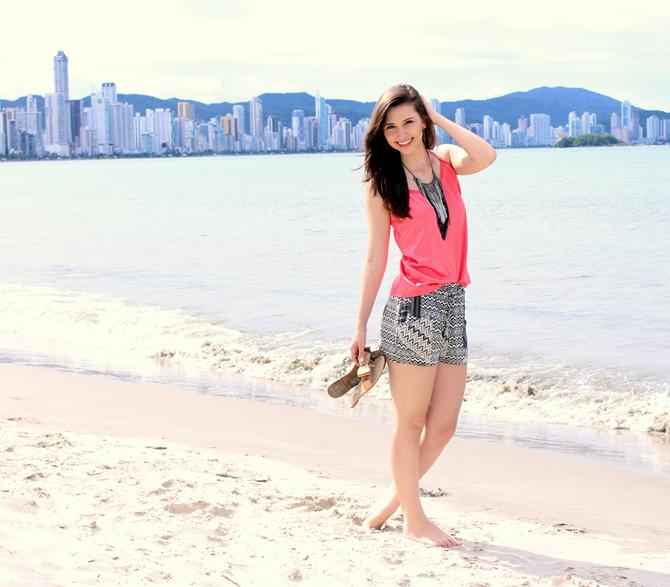 5- look do dia - shorts étnico