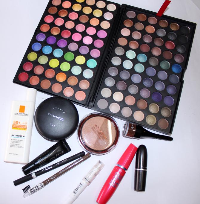 5- produtos usados maquiagem dia