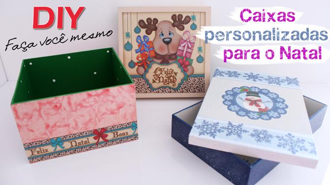 DIY - caixas personalizadas para o natal