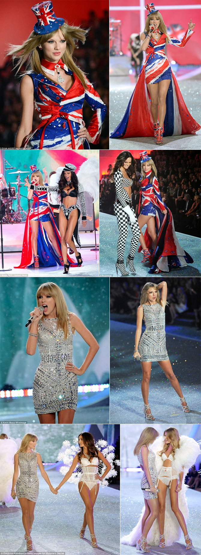 Taylor Swift em desfile da Victoria's Secret copy