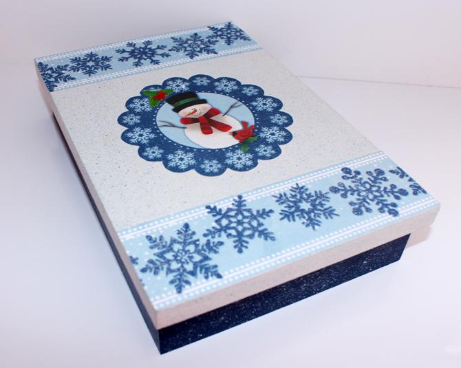 caixa azul personalizada para o natal2