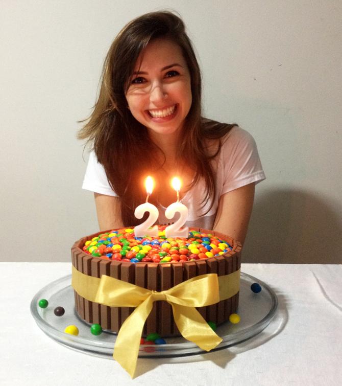 3 - aniversário bolo kit kat