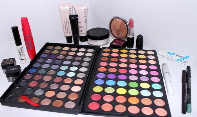 produtos usados maquiagem sofisticada