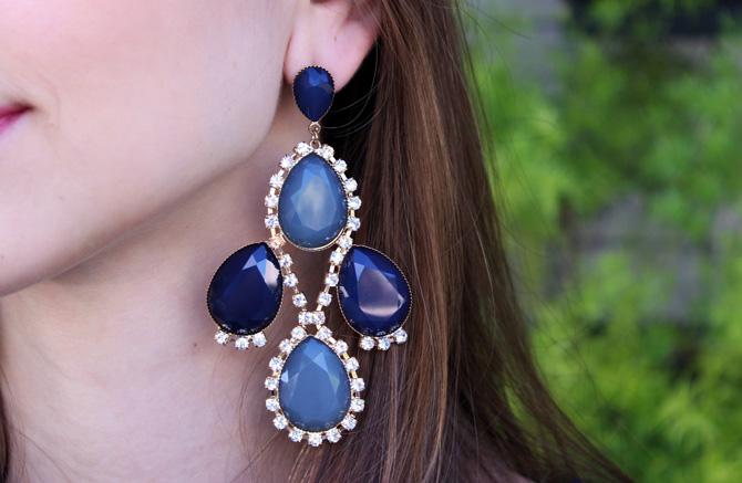 07 - look com vestido de renda azul blog sempre glamour