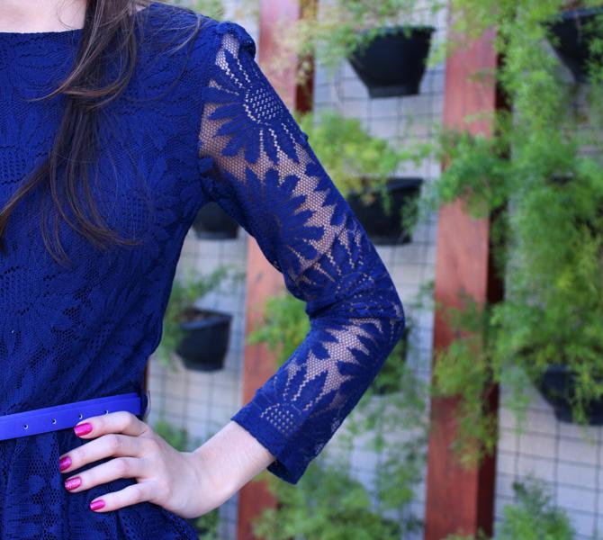 09 - look com vestido de renda azul blog sempre glamour