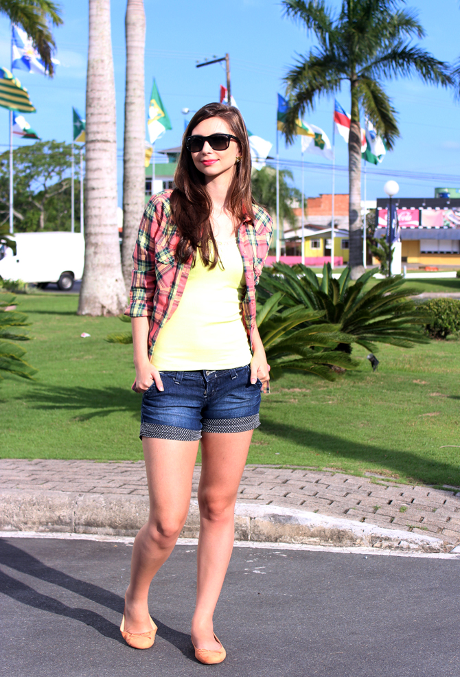 2 - look do dia - camisa xadrez