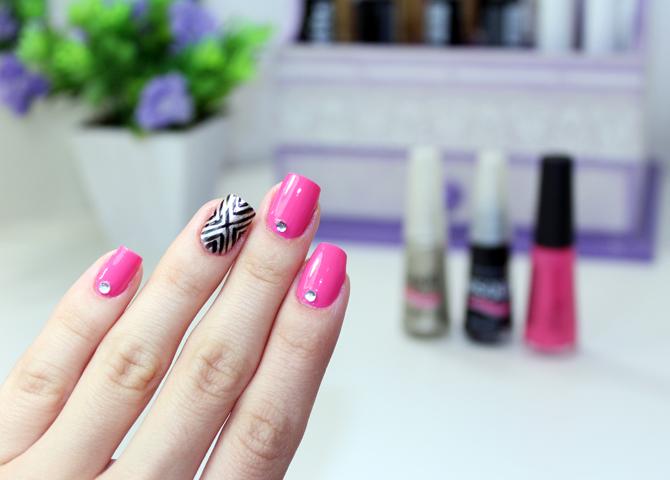 3- esmalte da semana - nail art simples e fácil com passo a passo