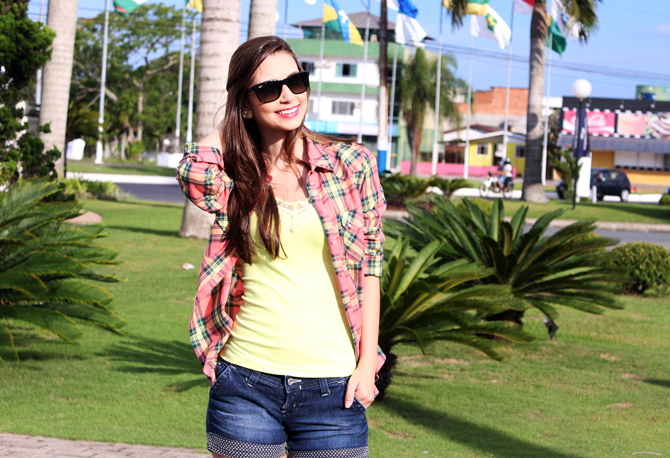 3 - look do dia - camisa xadrez