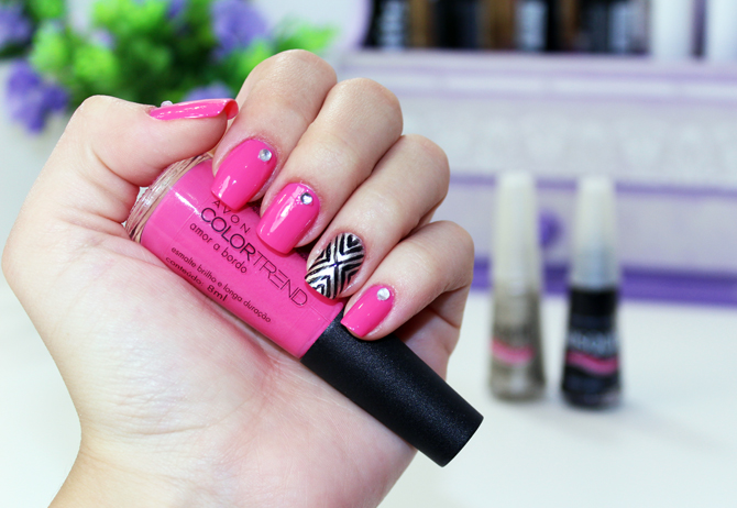 4- esmalte da semana - nail art simples e fácil com passo a passo