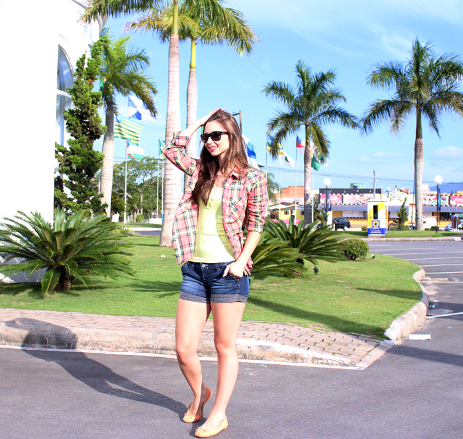 4 - look do dia - camisa xadrez