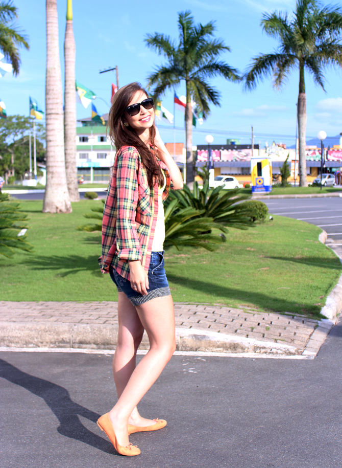 5 - look do dia - camisa xadrez