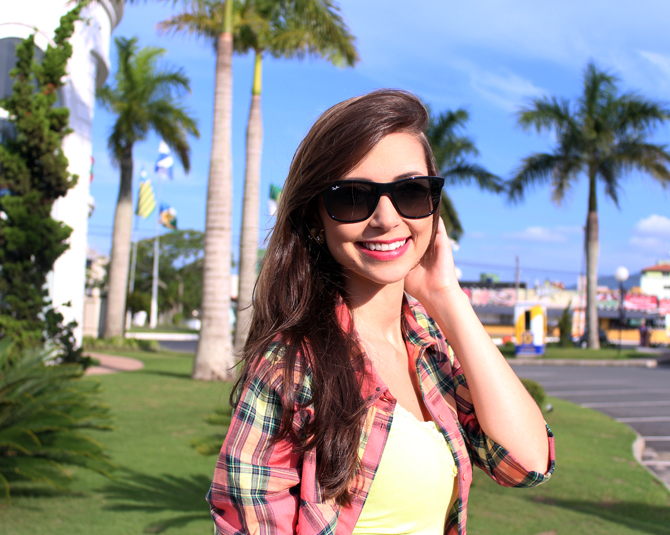 6 - look do dia - camisa xadrez