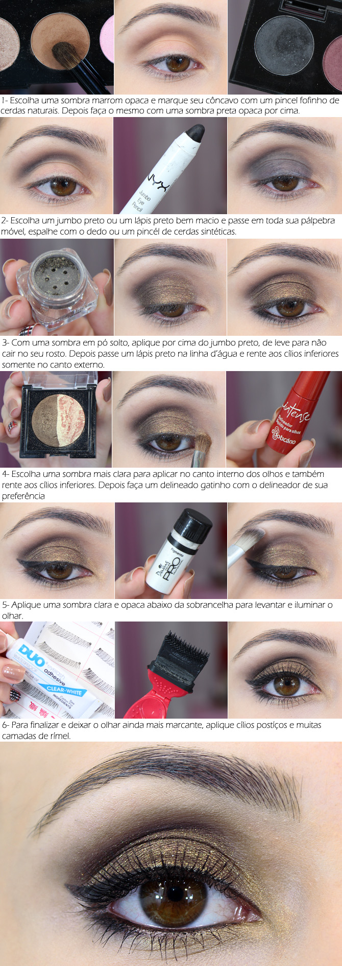01 - tutorial maquiagem fácil para a noite