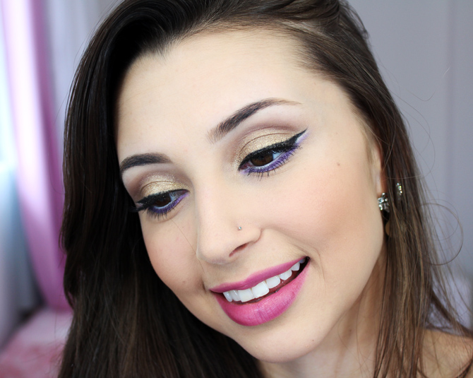 03 - tutorial de maquiagem glamour dourado com lilás