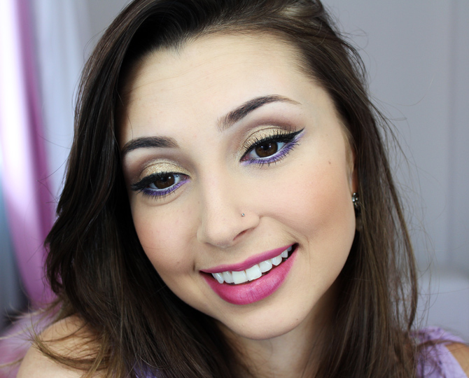 05 - tutorial de maquiagem glamour dourado com lilás