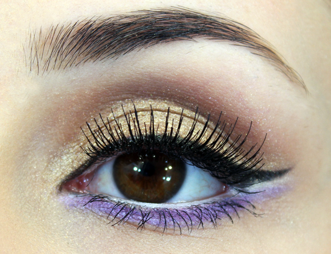 08 - tutorial de maquiagem glamour dourado com lilás