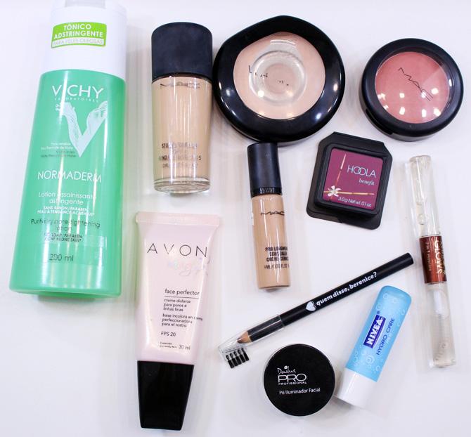 01 - Produtos usados para preparação de pele perfeita