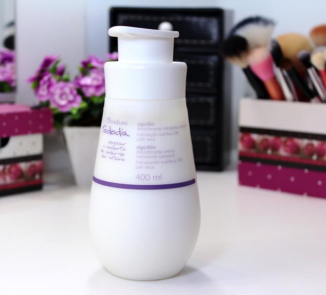 01 - natura todo dia desodorante hidratante corporal algodão