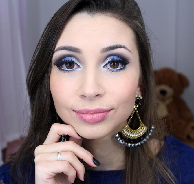 05 - maquiagem azul com prata sempre glamour