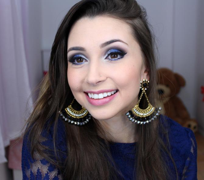 06 - maquiagem azul com prata sempre glamour