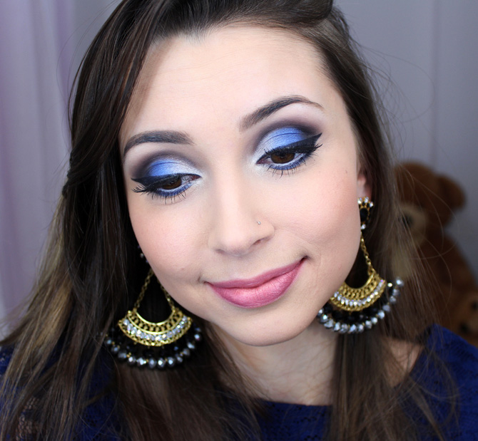 07 - maquiagem azul com prata sempre glamour