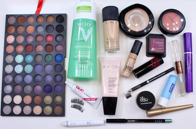 07 produtos usados maquiagem com sombra verde