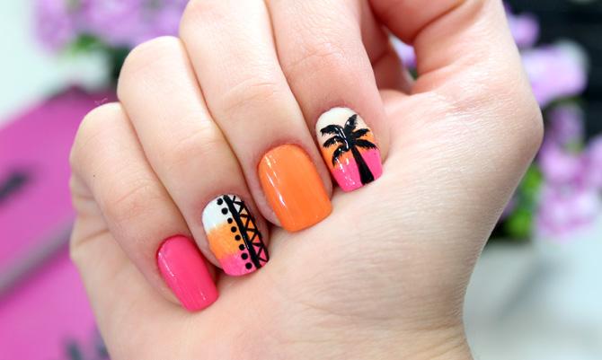 01 - tropical nails unhas tropicais