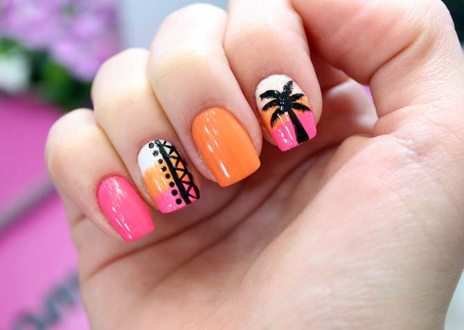 02 - tropical nails unhas tropicais