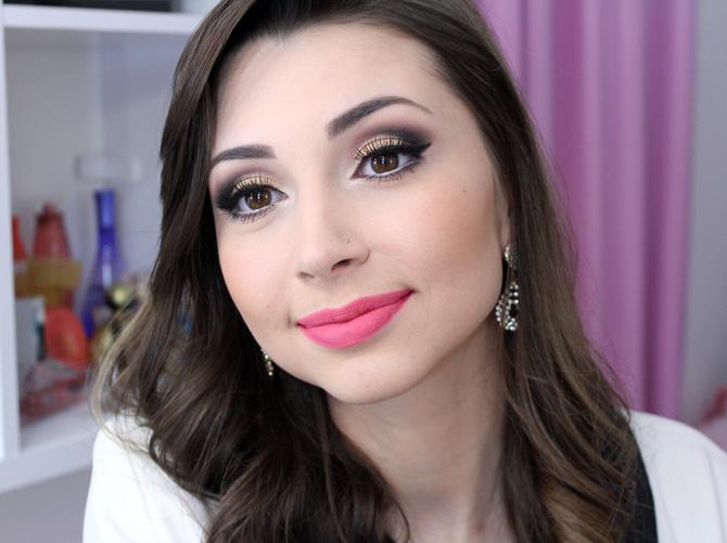 03 - maquiagem elegante com batom rosa