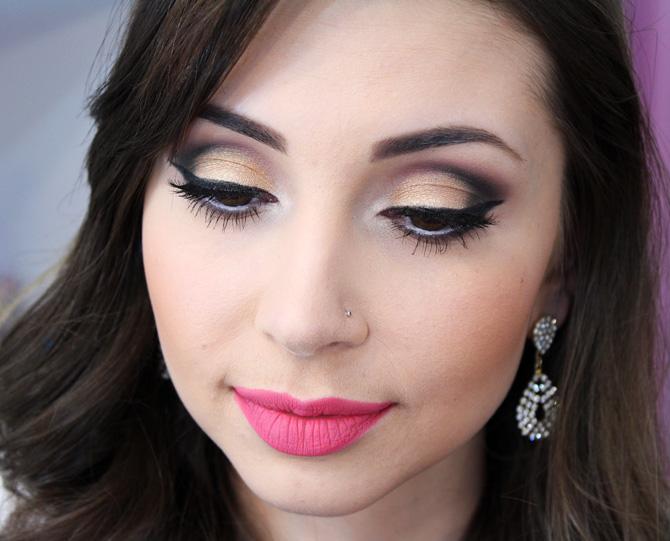07 - maquiagem elegante com batom rosa