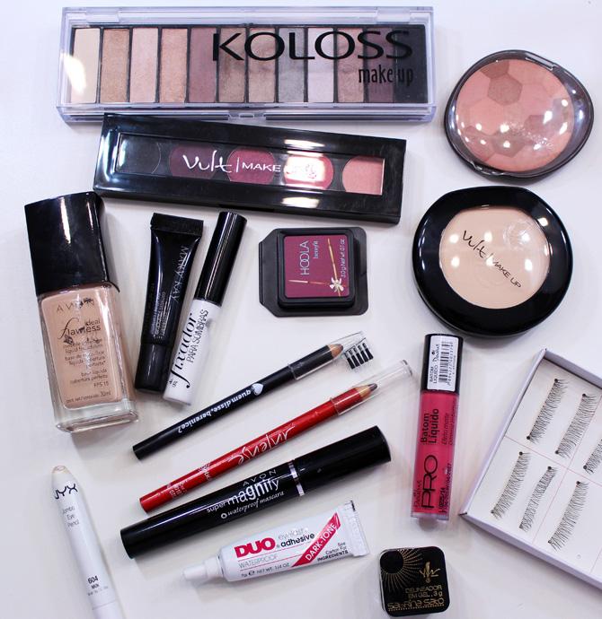 08 - maquiagem elegante com batom rosa - produtos usados