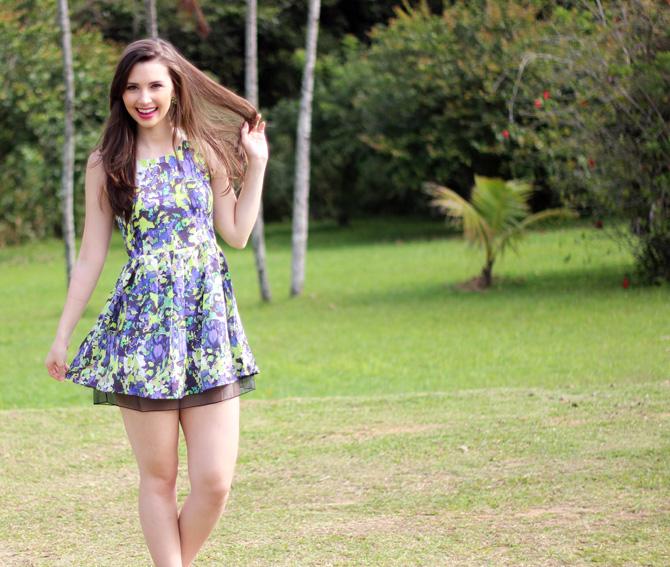 01 - vestido colorido azul e verde sempre glamour