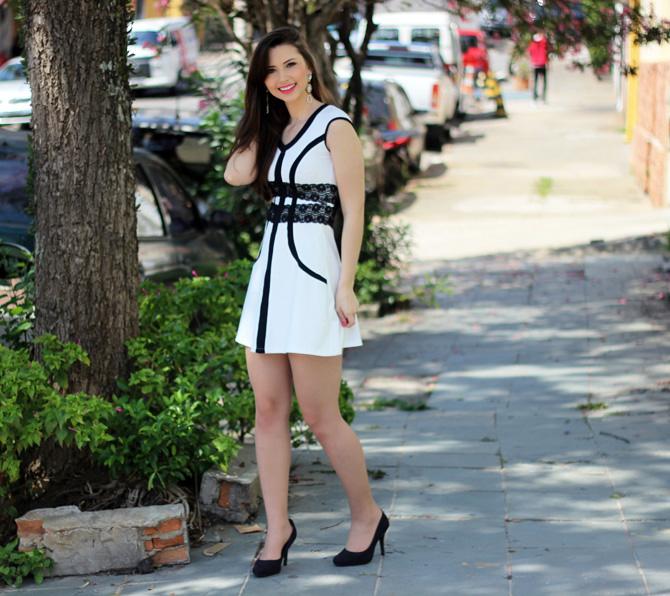 02 - vestido branco e preto pré requisito sempre glamour