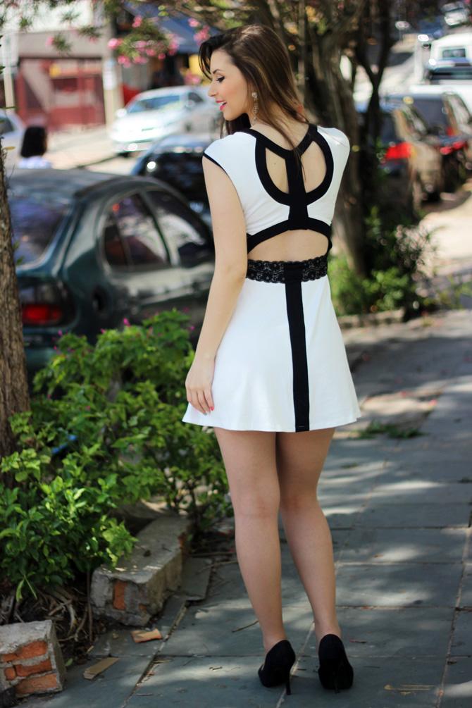 03 - vestido branco e preto pré requisito sempre glamour
