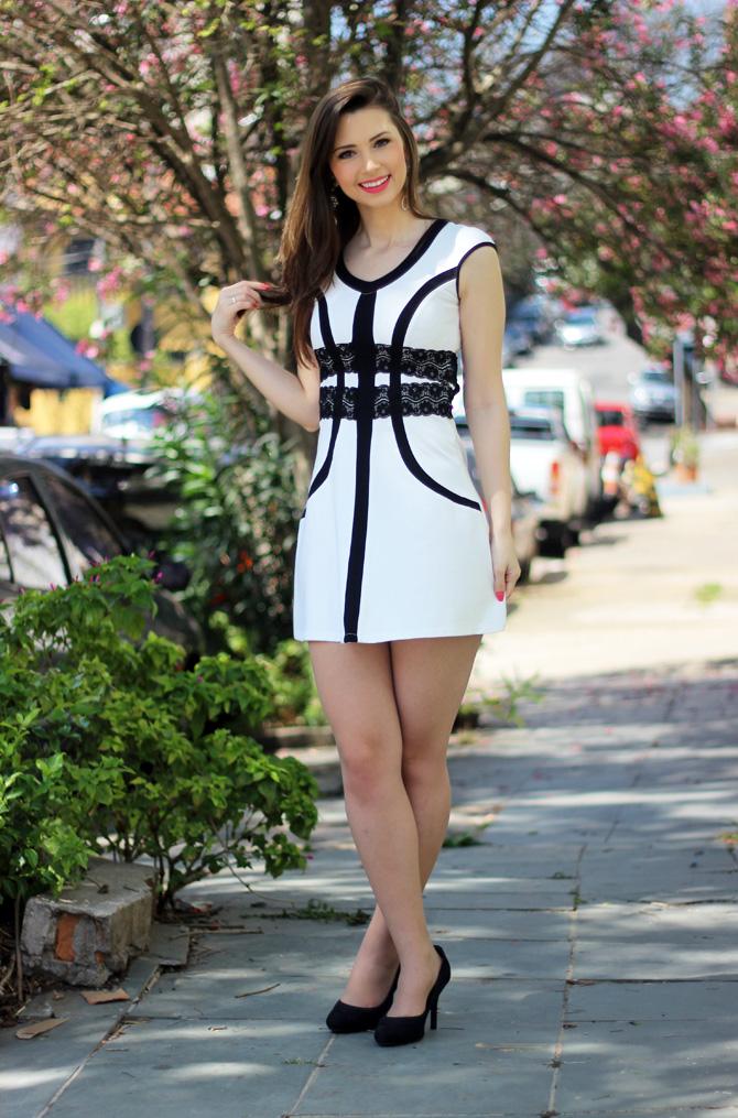 04 - vestido branco e preto pré requisito sempre glamour